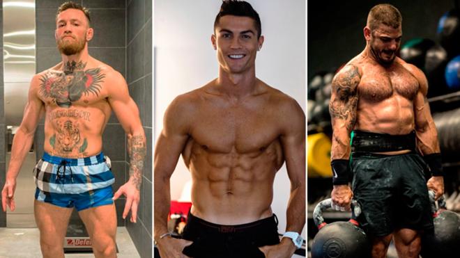 Cristiano Ronaldo dẫn đầu top 10 VĐV thể thao sở hữu body chuẩn nhất thế giới